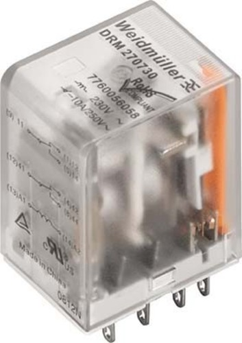 Weidmüller Relais 2W 10A 24VDC DRM270024