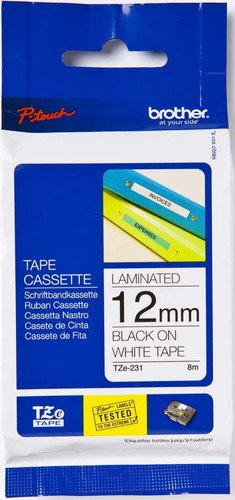 Brother Schriftbandkassette BF.farblos/DF.blau TZe-133