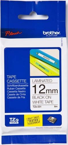 Brother Schriftbandkassette BF.weiß/DF.blau TZe-233