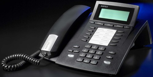 Agfeo Systemtelefon schnurgebunden ST 22 Up0/S0 sw