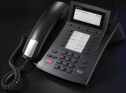 Agfeo Systemtelefon schnurgebunden ST 42 Up0/S0 sw