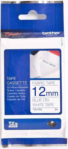 Brother Schriftbandkassette BF.weiß/DF.blau TZe-FA3