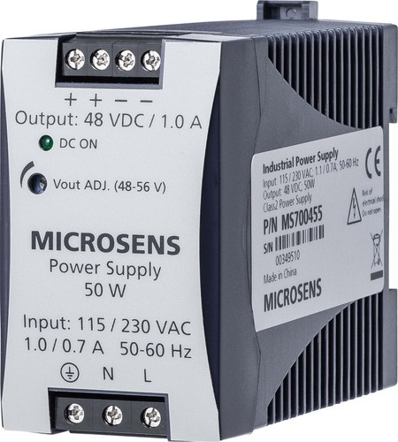 Microsens Hutschienen Netzteil 50W 48VDC/1,05A out MS700455