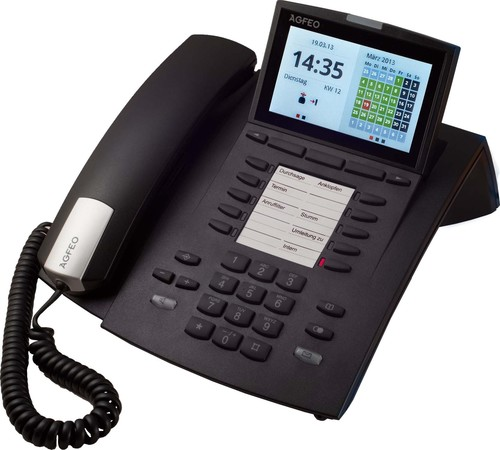 Agfeo Systemtelefon schnurgebunden schwarz ST 45 schwarz