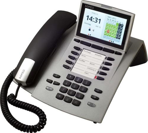 Agfeo Systemtelefon schnurgebunden si ST 45 silber