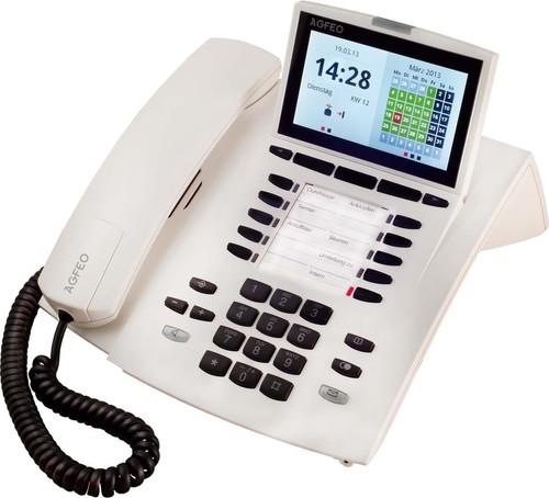 Agfeo Systemtelefon schnurgebunden weiß ST 45 reinweiß