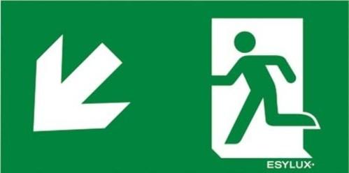ESYLUX Piktogramm-Folie einseitig Pfeil unten/links SLX 32m HCPikto u/li