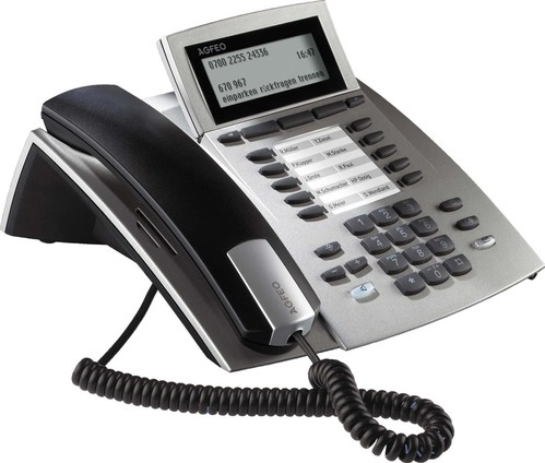 Agfeo Systemtelefon silber ST 42 IP si