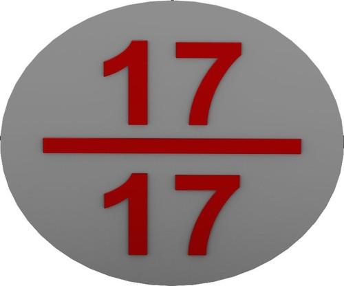 RZB Bezeichnungsschild weiß-rt f.Stromkreis 99350.3 (VE10)