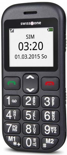 swisstone GSM Großtast.Mobiltelefon bel.Grafikdisplay BBM320c