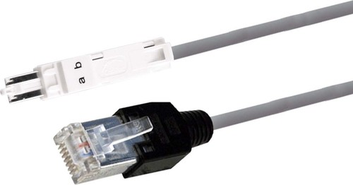 CobiNet Verteilerschnur TPU4-RJ45 4-ad.grau L=3,0m 5030 041/3,0.1