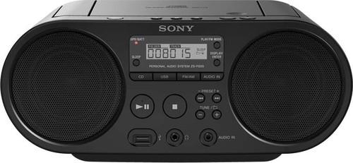 Sony Radio/CD/USB-Player AM FM, schwarz ZSPS50B.CED