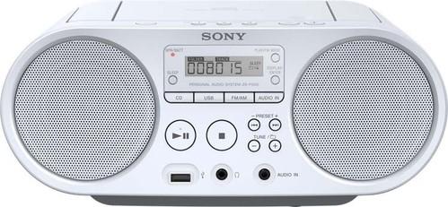 Sony Radio/CD/USB-Player AM FM, weiß ZSPS50W.CED