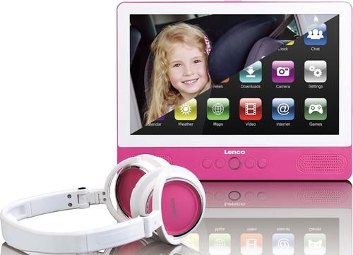 Lenco Tablet mit DVD-Player WiFi TDV901 pink