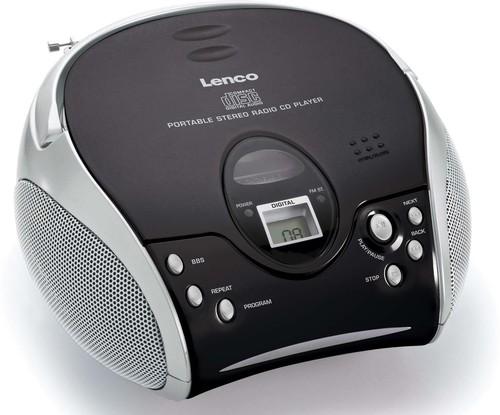Lenco UKW-Radio m.CD stereo,schwarz/silbe SCD-24 black/silver