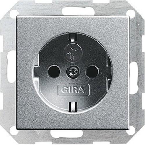 Gira Schuko-Steckdose aluminium 045326