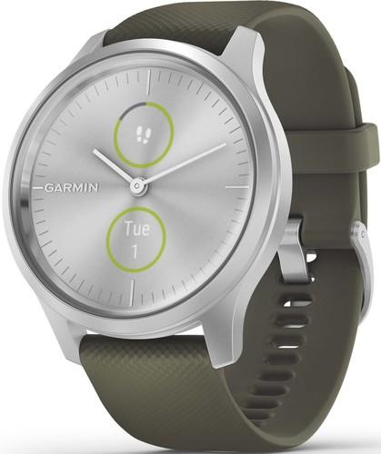 Garmin Smartwatch Silver/Moosgruen VIVOMOVE STYsi/mosgn