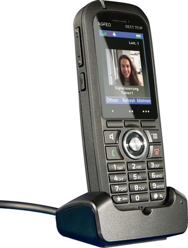 "Agfeo DECT-IP-Telefon 2"" Farbdisplay schwarz DECT 75 IP sw"