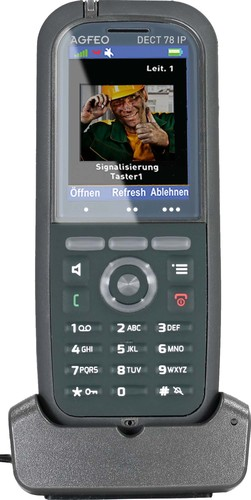 "Agfeo DECT-IP-Telefon 2"" Farbdisplay IP65 DECT 78 IP gr"