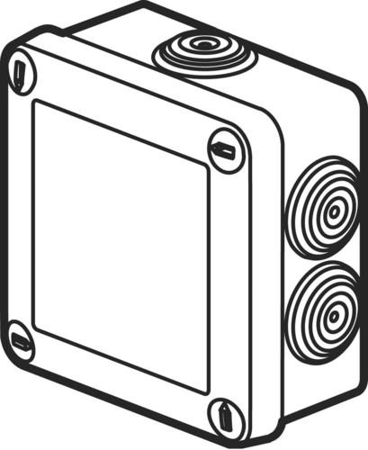 Legrand (BT) Abzweigdose grau 105x105x55mm, 650Gr 92022
