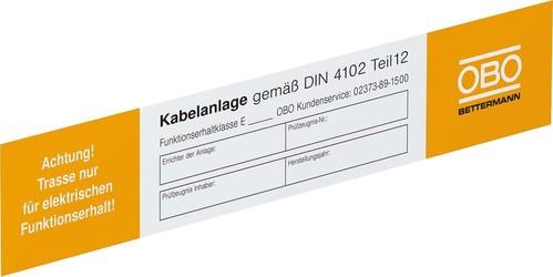 OBO Bettermann Vertr Kennzeichnungsschild für Funktionserhalt KS-E DE