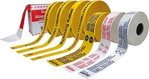 Cellpack Absperrband 80mmx500m, rot-weiss Nr.26 Warnband VE500