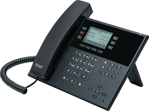 Auerswald SIP-Systemtelefon schwarz COMfortel D-210 sw