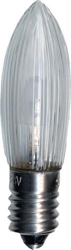 Scharnberger+Hasenbein LED-TOP-Riffelkerze E10 10-55V 0,1W klar 57690 (VE3)