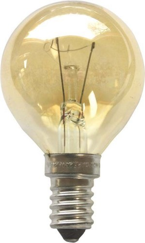Scharnberger+Hasenbein Tropfenlampe 45x75mm E14 230V 40W go-gelü 40689