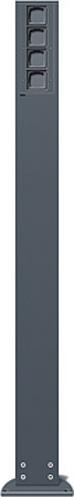 Gira Energiesäule anthrazit ohne Geräte 135628