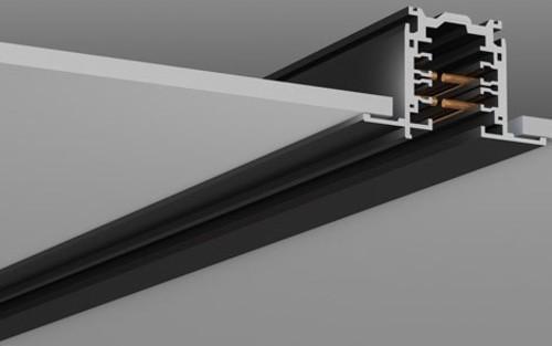 RZB 3Ph-Flügelschiene schwarz 1000mm DALI 701101.003
