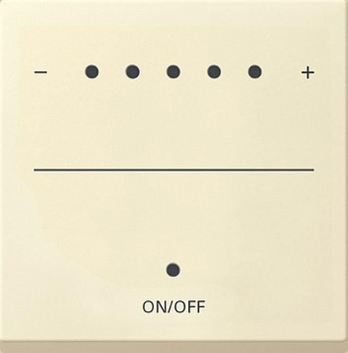 Gira Aufsa. Touch-Dimmer cremeweiß-glänzend System 2000 226001