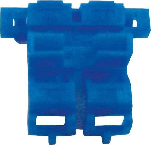 3M Deutschland Flachsicherungshalter blau,max.0,75-1,5qmm 972, blau (VE25)