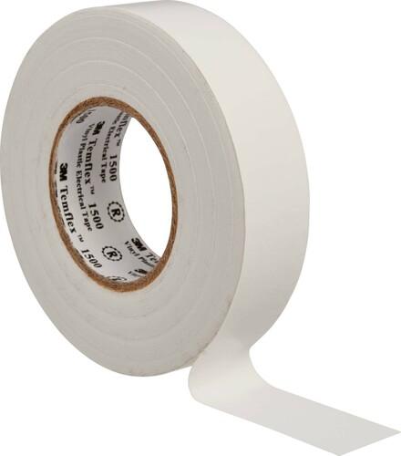 3M Deutschland Vinyl Elektro-Isolierband 19 mm x 25 m, weiß TemFlex 1500 19x25ws