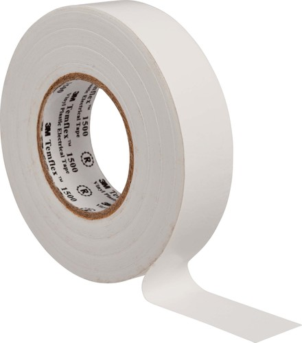 3M Deutschland Vinyl Elektro-Isolierband 15 mm x 25 m, weiß TemFlex 1500 15x25ws
