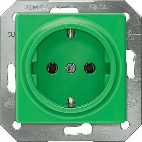 Siemens Indus.Sector Schuko-Dose Delta Plus, grün 5UB1512