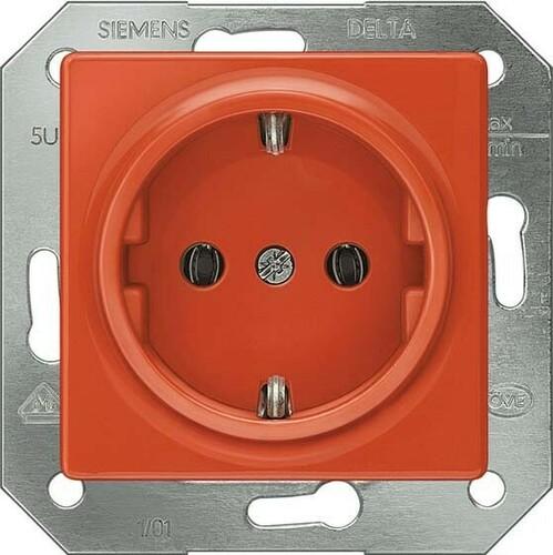 Siemens Indus.Sector Schuko-Dose Delta Plus, orange 5UB1513