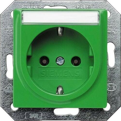 Siemens Indus.Sector Schuko-Dose Delta Plus, grün 5UB1537