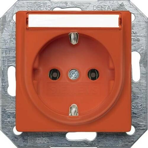 Siemens Indus.Sector Schuko-Dose Delta Plus, orange 5UB1538