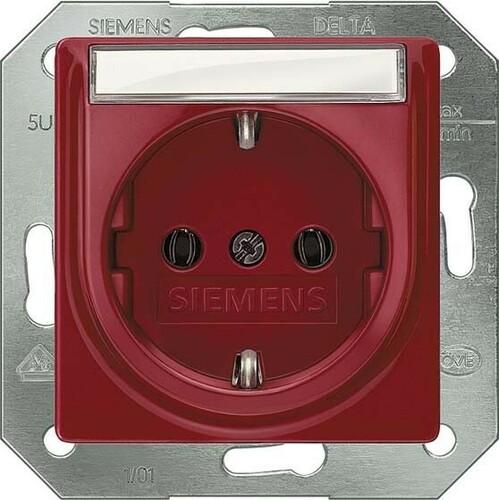 Siemens Indus.Sector Schuko-Dose rot 5UB1536