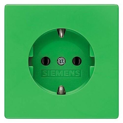 Siemens Indus.Sector Schuko-Steckdose Delta Style, grün 5UB1851