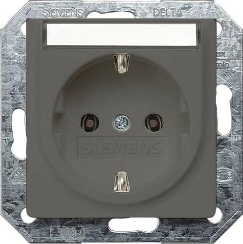 Siemens Indus.Sector Schuko-Steckdose Delta Vita, car/met 5UB1923