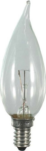 Scharnberger+Hasenbein Windstoßkerze 35x100mm 230V 25W E14 klar 40851