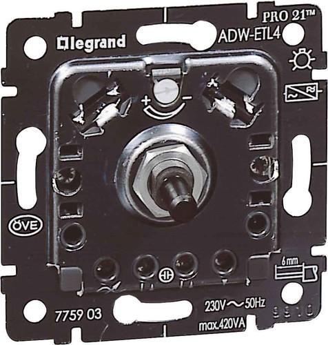 Legrand (BT) Dimmer-Einsatz mit Druck-Wechsels. 775903