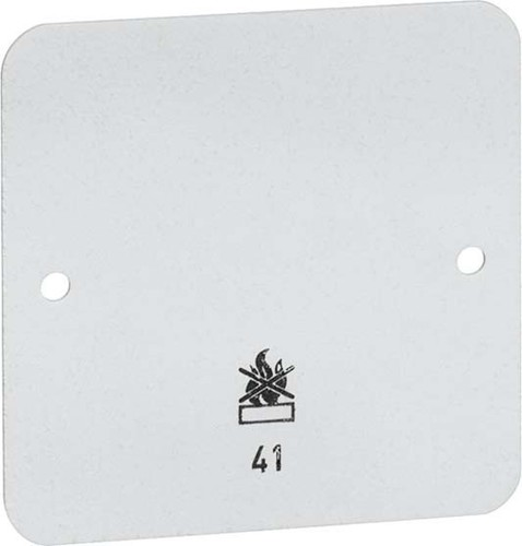 Peha Bodenplatte 1-fach weiß für AP-Gehäuse D 41