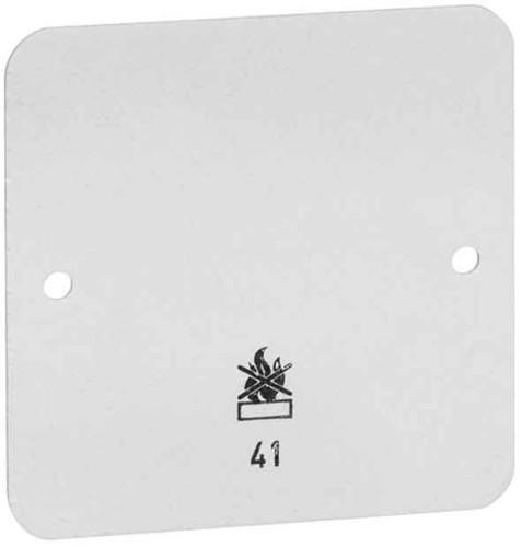 Peha Bodenplatte 2-fach weiß für AP-Gehäuse D 42