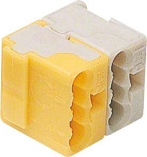 Hager Busklemme, tebis gelb/weiß,2-polig TG025