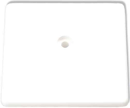 Homeway HW-ZP-B Zentralplatte 50mm reinweiß HAXHSE-G0001-C000