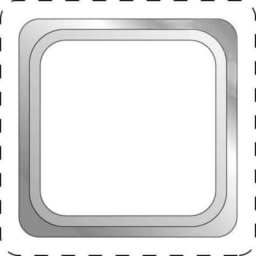 Elso Adapterrahmen 1-fach anthrazitgrau 2031031