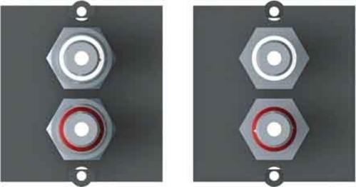 Bachmann Rahmen 1xCinch Stereo BAM-1 917.022